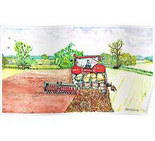 The Big Red Tractor Poster