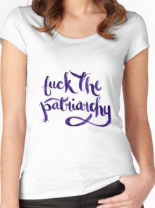 F*ck The Patriarchy (NSFW) Women's Fitted Scoop T-Shirt