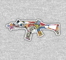 G36 Gun (Sticker Bomb) (Sticker / T-Shirt) by vincepro76