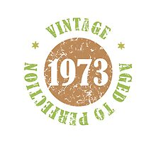 1973 Birthday Vintage Seal by thepixelgarden