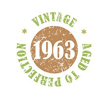 1963 Birthday Vintage Seal by thepixelgarden