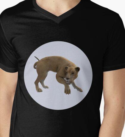 Hunting Lioness Mens V-Neck T-Shirt