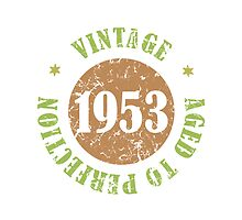 1953 Birthday Vintage Seal by thepixelgarden