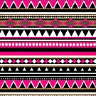 Aztec Pink & Black Pattern by Paulo Capdeville