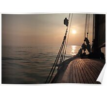 Heading West on Cirrus clouds Poster