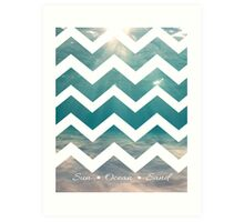 Summer Chevron Art Print