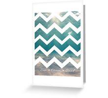 Summer Chevron Greeting Card