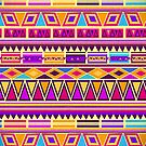 Aztec Fuchsia Pattern by Paulo Capdeville