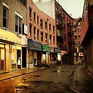Rainy Evening - New York City - Chinatown by Vivienne Gucwa