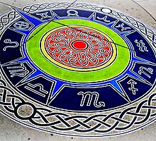 Zodiac Compass ~ sidewalkart by VicTOr Fraser, Toronto by ©The Creative  Minds