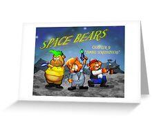 Space Bears Greeting Card