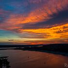 An Oasis Sunset over Lake Travis by Roschetzky