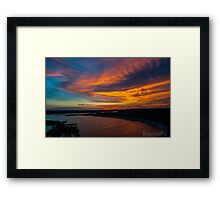 An Oasis Sunset over Lake Travis Framed Print