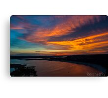 An Oasis Sunset over Lake Travis Canvas Print