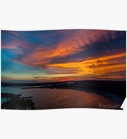 An Oasis Sunset over Lake Travis Poster