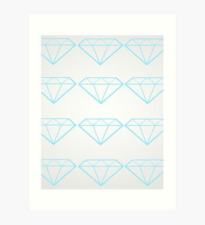 Diamonds are a Girl's Bestfriend Art Print