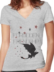 HTTYD- Forbidden Friendship Women's Fitted V-Neck T-Shirt