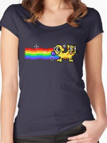Nyan CatDog Women's Fitted Scoop T-Shirt