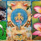 Om shanti frangipani by ©The Creative  Minds