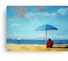 Special Moments - beach scene original oil painting Canvas Print