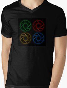 Glowing aperture Mens V-Neck T-Shirt