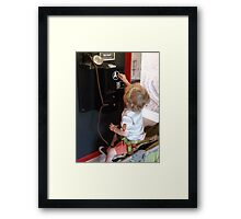 Wonder which button wins the teddy! Framed Print
