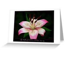 Live is the flower Greeting Card
