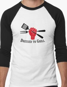 Dressed to Grill Men's Baseball ¾ T-Shirt