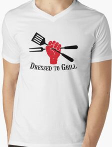 Dressed to Grill Mens V-Neck T-Shirt