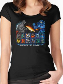 KAIJU FIGHTER Women's Fitted Scoop T-Shirt