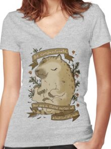 Be Compassionate Women's Fitted V-Neck T-Shirt