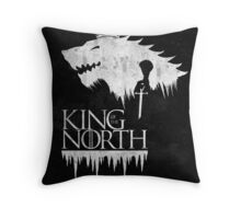 King of the North - white Throw Pillow