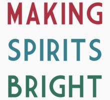 Making Spirits Bright One Piece - Short Sleeve