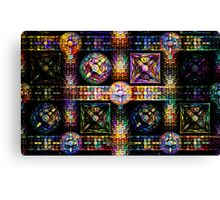 Tiled Bubbles and Blocks Canvas Print