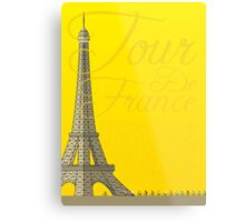 Tour De France Eiffel Tower Metal Print