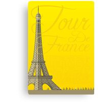 Tour De France Eiffel Tower Canvas Print