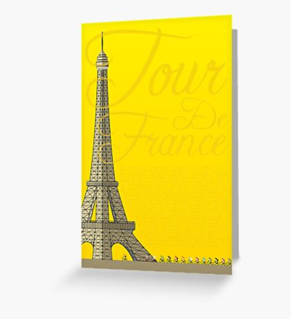 Tour De France Eiffel Tower Greeting Card