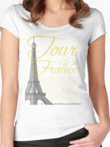 Tour De France Eiffel Tower Women's Fitted Scoop T-Shirt