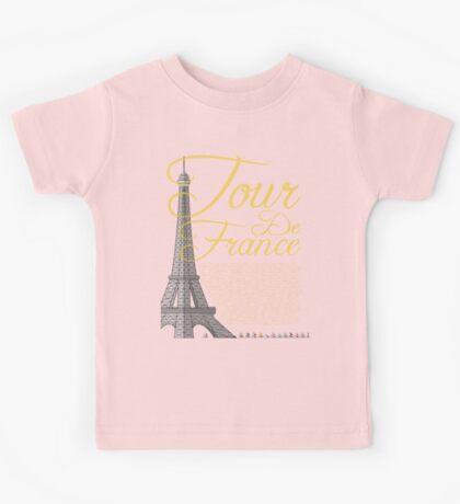 Tour De France Eiffel Tower Kids Tee