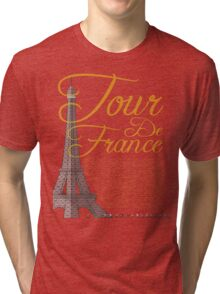 Tour De France Eiffel Tower Tri-blend T-Shirt