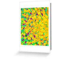 SPRING SPLASH Abstract Acrylic Painting Bright Cheerful Lime Sunshine Yellow Lavender Lilac Purple Ocean Beach Waves Greeting Card