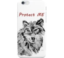 Protect Me - Wolf Art by Valentina Miletic iPhone Case/Skin