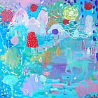 Original Acrylic Painting (Happy Magical Mushroom Forest) by Christina Martine