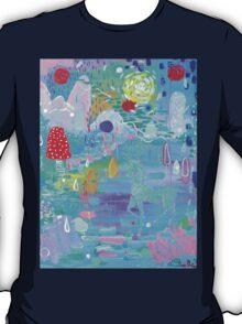 Original Acrylic Painting (Happy Magical Mushroom Forest) T-Shirt