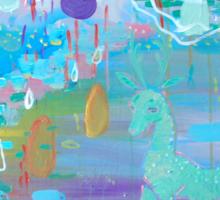 Original Acrylic Painting (Happy Magical Mushroom Forest) Sticker