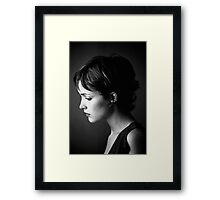 Rose Byrne - lovely serious - 2000 Framed Print