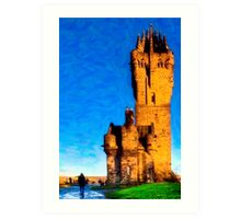 William Wallace Monument - Stirling Scotland Art Print