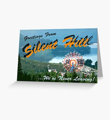 Silent Hill postcard Greeting Card