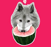 Melon Wolf Womens Fitted T-Shirt