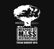 Weapons of Mass Destruction (Tough Mudder 2013) - Team Shirt (White Logo) Men's Baseball ¾ T-Shirt